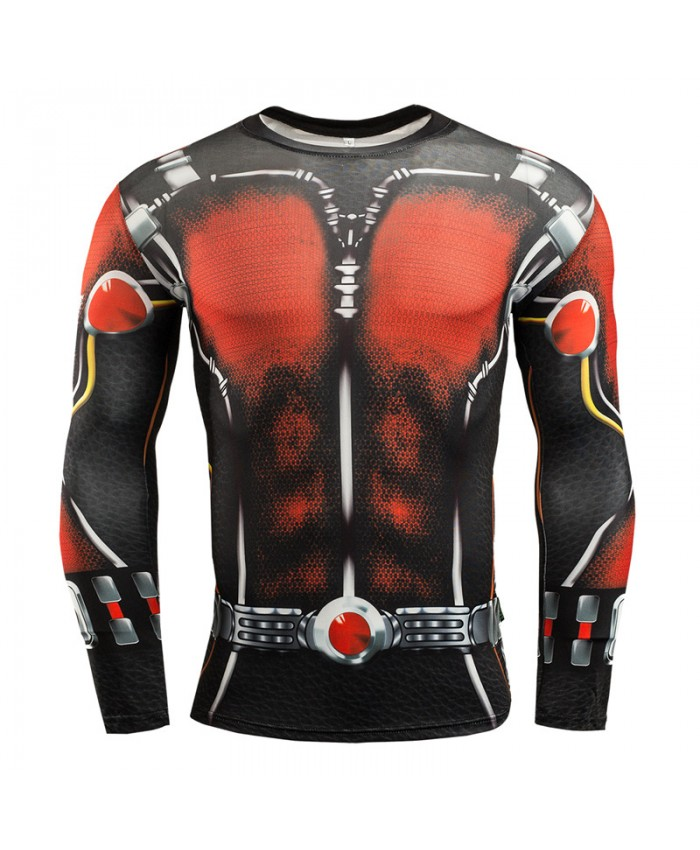 ANT MAN Compression Shirt for Men T-shirts 3D Long Sleeve Tees