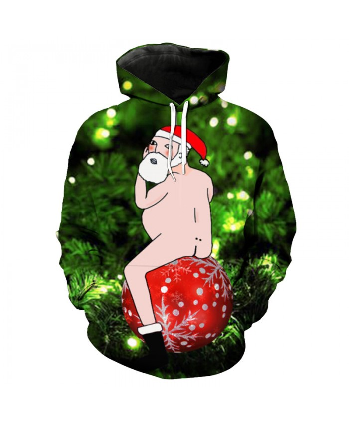 Alternative Fun Cartoon Christmas Hooded Sweatshirt Fashion Christmas Pullover Dropshipping and Wholesale EU Size
