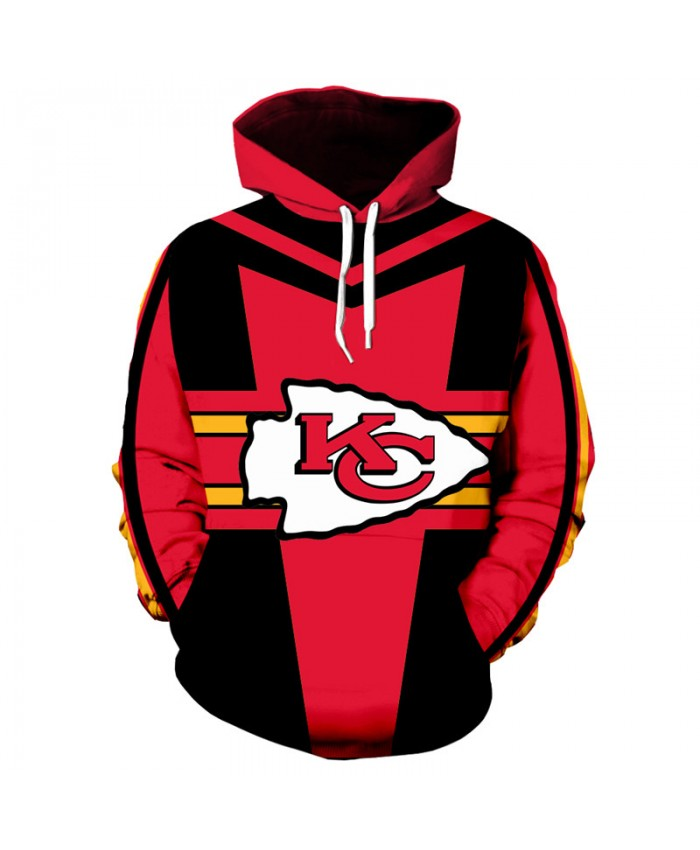 American football Fashion 3D hooded sweatshirt cool pullover Kansas City Chiefs