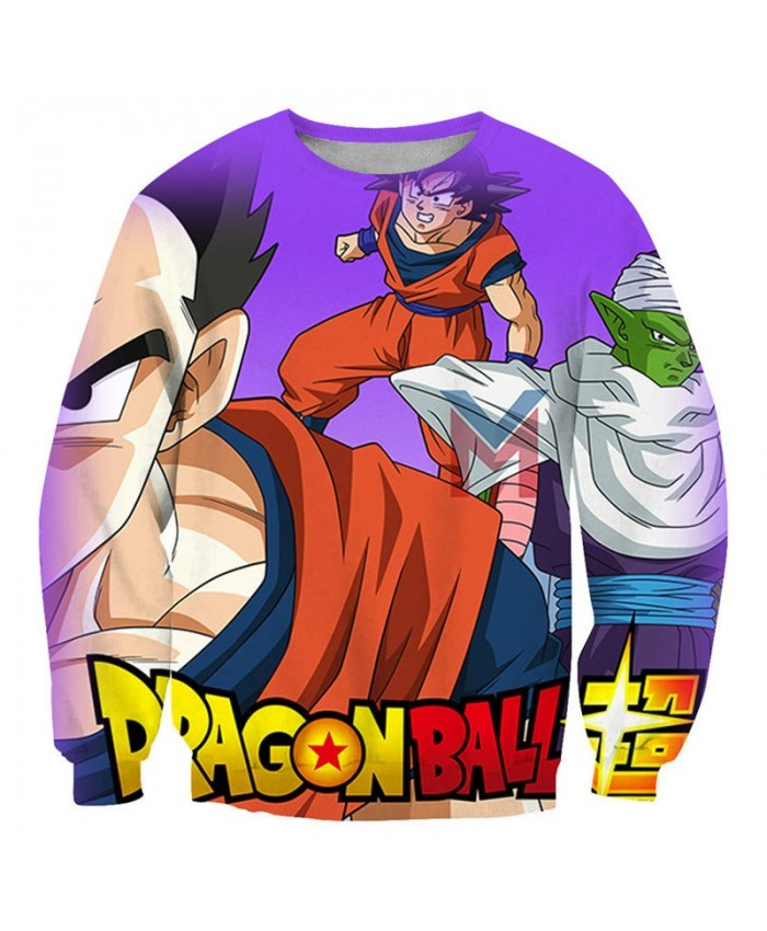 Angry Fist Dragon Ball 3D Print Mens No Cap Pullover Sweatshirt Pullover Casual Men Streetwear Sweatshirt Fashion