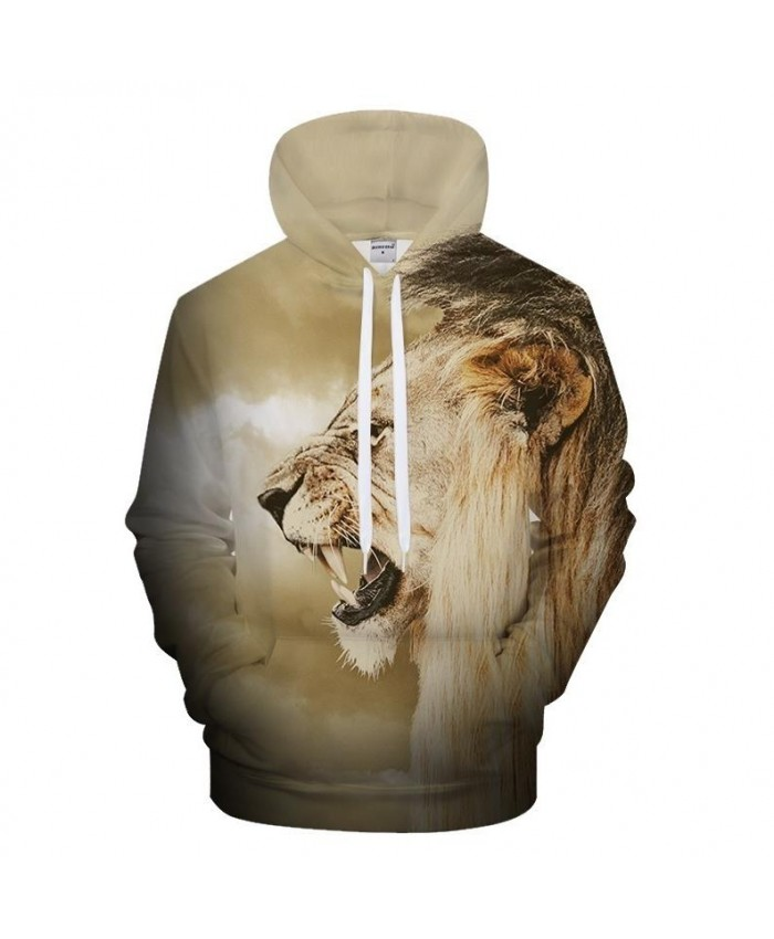 Animal 3D Hoodies Men Women Hoody Lion Sweatshirt Casual Pullover Streatwear Tracksuit New Arrival Hooded Drop ship