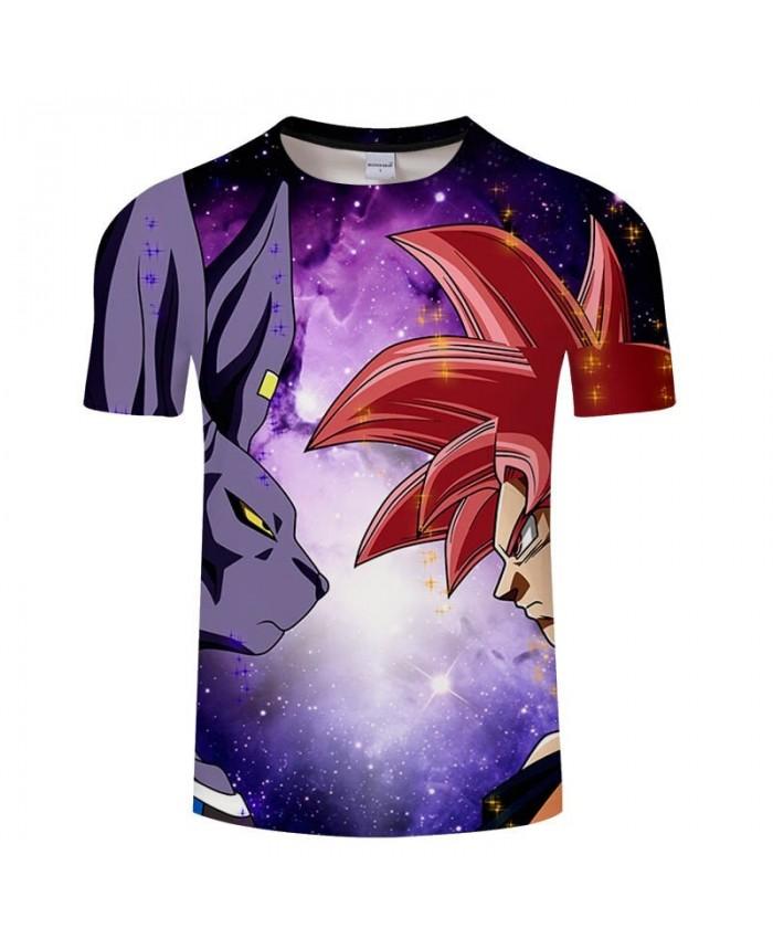 Animal Glare Cartoon Goku Dragon Ball 3D Print Men tshirt Casual Summer 2019 New tshirt Short Sleeve Male Drop Ship