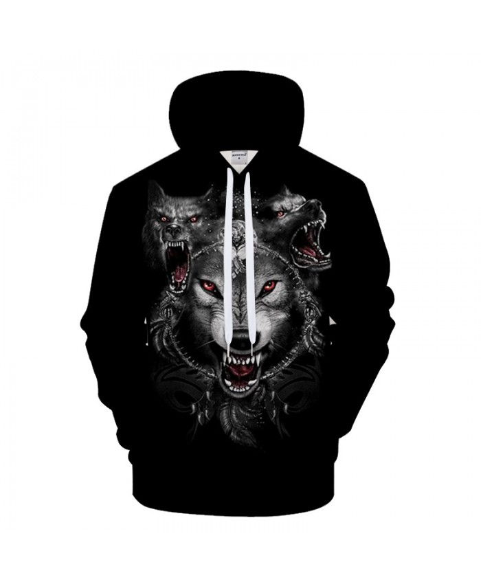 Animal Hoodies Howling Wolf Hoody Men Sweatshirts Funny Pullover 3d 6XL Tracksuit Autumn Clothing Streatwear DropShip