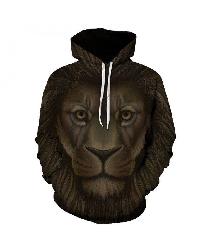Animal Hoodies Lion 3D Sweatshirts 2017 Men Women Tracksuits Unisex Outwear Hooded Pocket Jackt Causal Brand Quality
