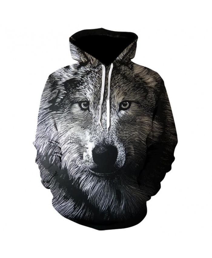 Animal Hoodies Men Hoody 3D Wolf Hoodie Funny Tracksuit Streatwear Sweatshirt Print Coat Pullover Hip Hop DropShip