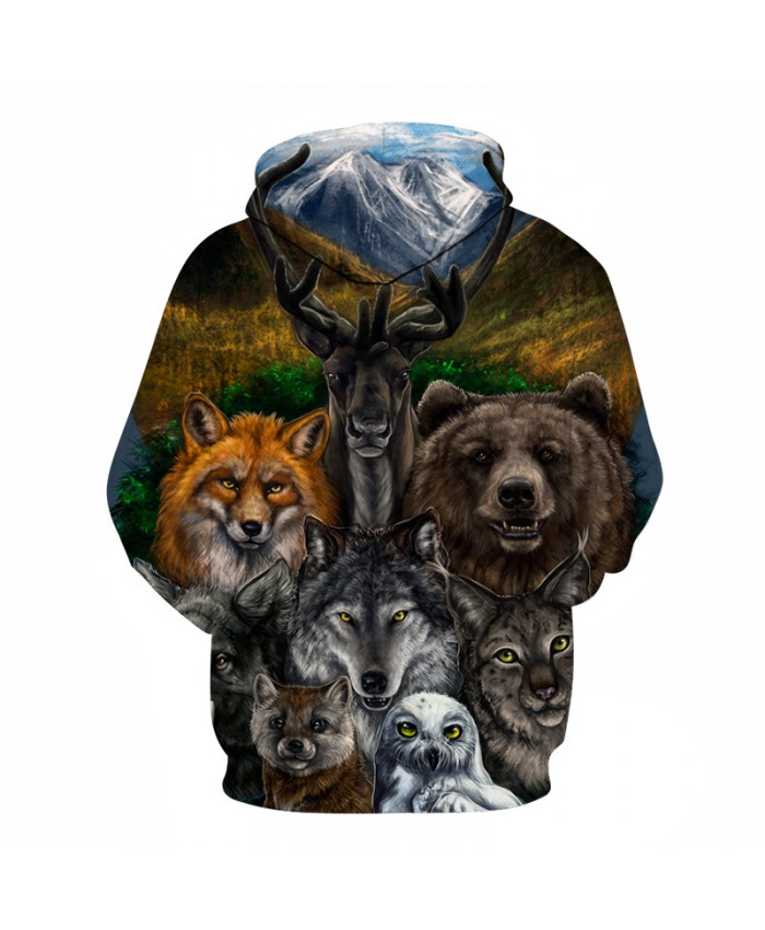 Animal Printed Zipper Hoodies Brand 3d Hoodies Men Unisex Sweatshirts Hot Sale 6XL Autumn Pullover Casual Tracksuits