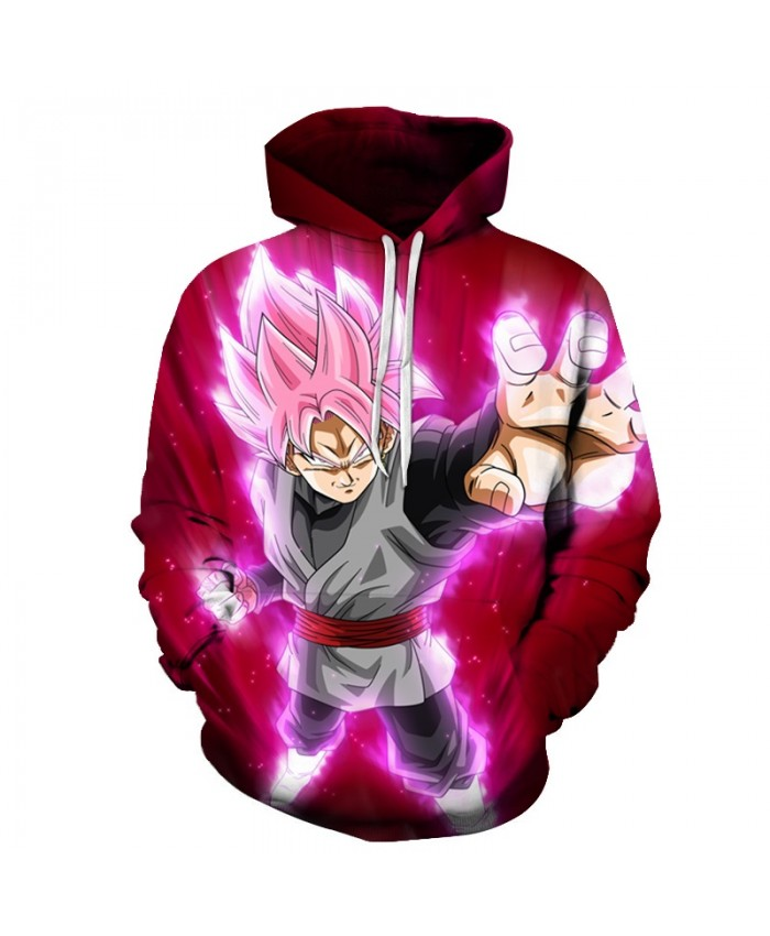 Anime 3D Hooded Sweatshirt Dragon Ball Z Super Saiyan Printed Hoodies and Sweatshirts Hip Hop Style