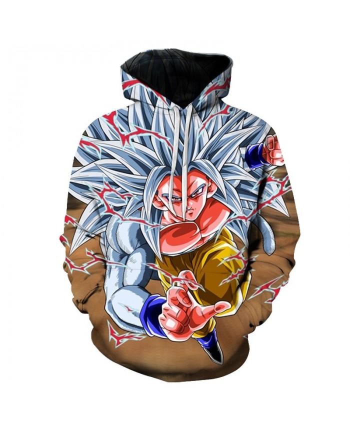 Anime 3D Hooded Sweatshirt Men Dragon Ball Z Super Hoodies and Sweatshirts Hip Hop Style Casual Sweat Homme