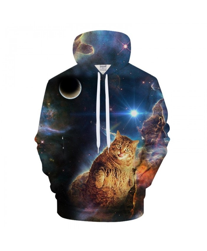 Anime Cat Hoodies Men Women Sweatshirts 3d Pullover Harajuku Tracksuits Galaxy Hoody Streetwear Coat Print Drop ship