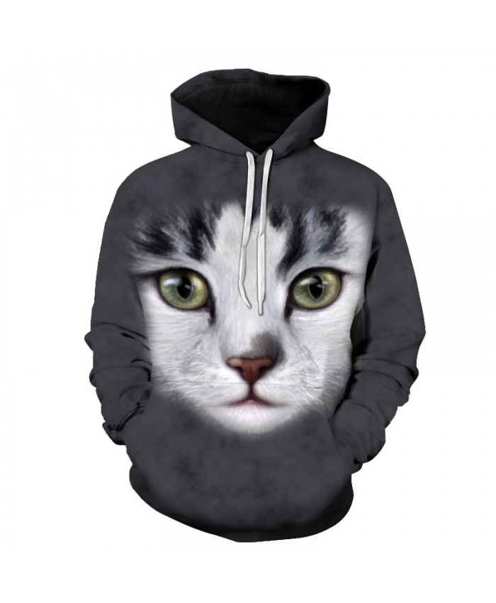 Anime Cat Sweatshirts Men Hoodies Animal Tracksuit 3D Printing Pullover Autumn Hoody Funny Coat Unisex 6xl Drop Ship