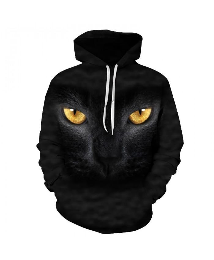 a98820c50a2b Anime Cat Sweatshirts Men Hoodies Black Hoody 3d Printing Pullover  Streetwear Tracksuit Anime Coat Animal Drop Ship. Sale. Image