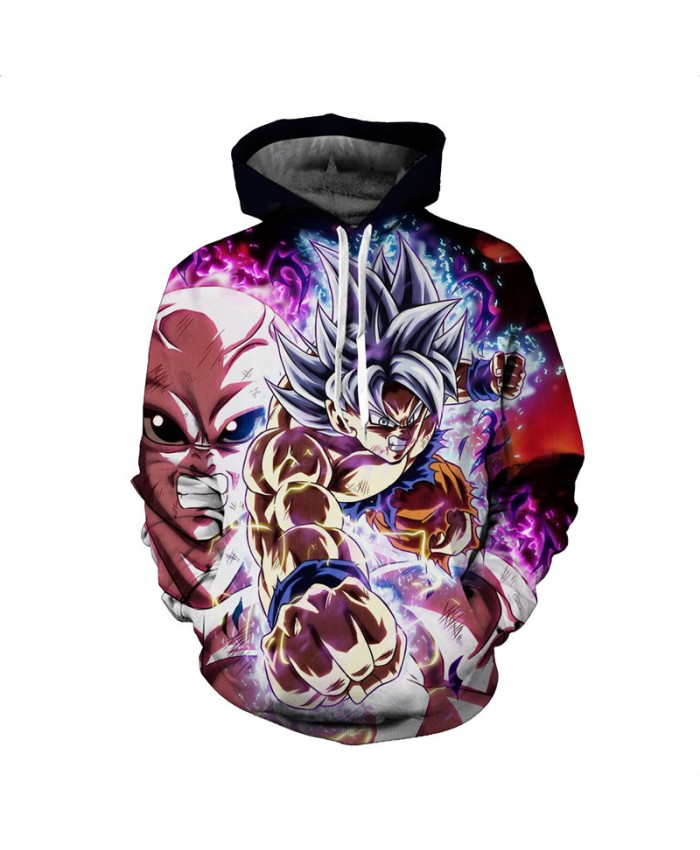 Anime Dragon Ball Z Pocket Hoodies Autumn Winter Hooded Sweatshirts Goku Vegeta Printed Men Women Long Sleeve Outwear