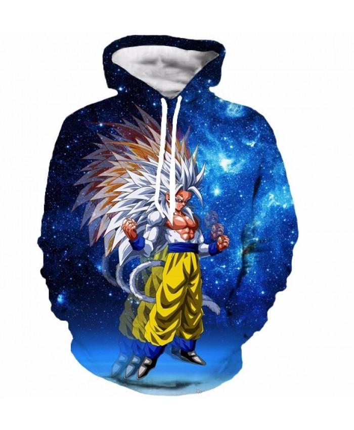 Anime Dragon Ball Z Super Saiyan 3D Hoodie Goku/Vegeta crewneck Pullovers Women Men Long Sleeve Outerwear Hoodies S-6XL A