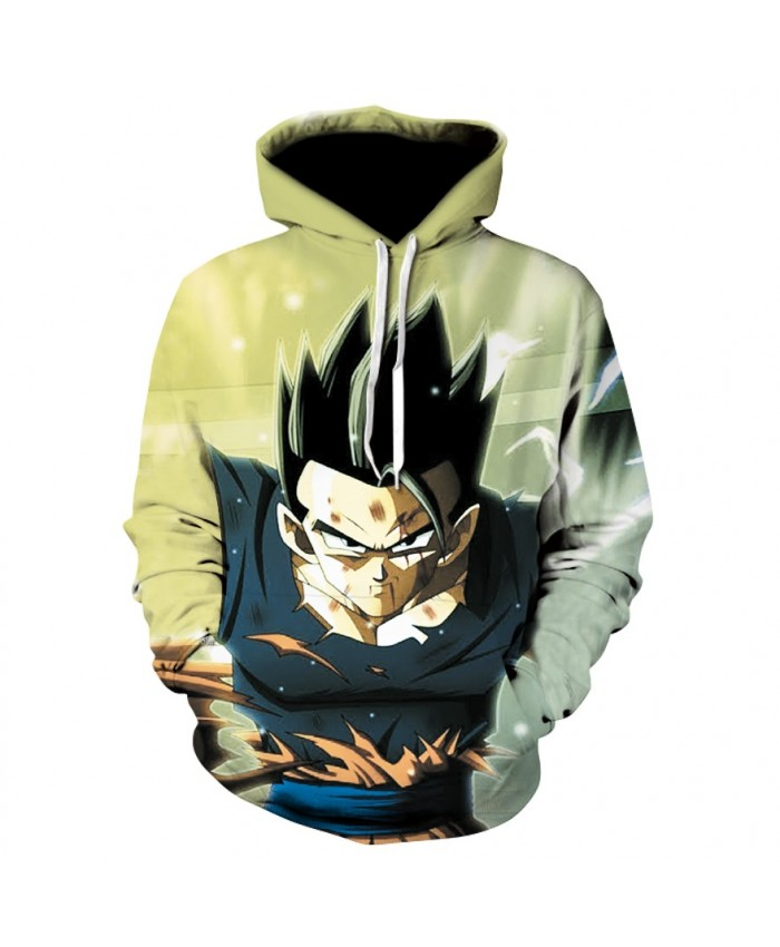 Anime Dragon Ball Z vegeta fighting Pocket Hooded Sweatshirts 3D Hoodies Pullovers Men Women Long Sleeve Outerwear New Hoodie