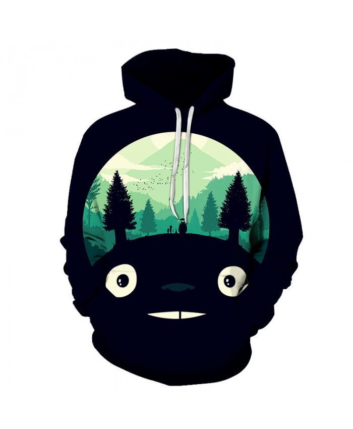Anime Hoodies 3D Totoro Printed Hoodies Men Women Sweatshirts Fashion Pullover Casual Tracksuits Brand Drop Ship