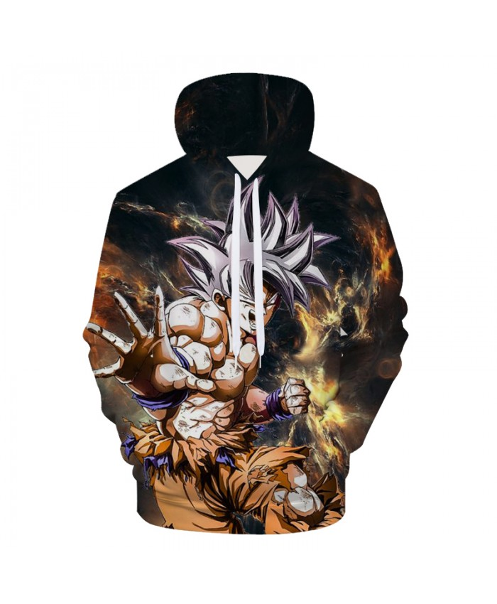 Anime Hoodies Dragon Ball Z Pocket Hooded Sweatshirts Kid Goku 3D Hoodies Pullovers Men Women Long Sleeve Outerwear New Hoodie