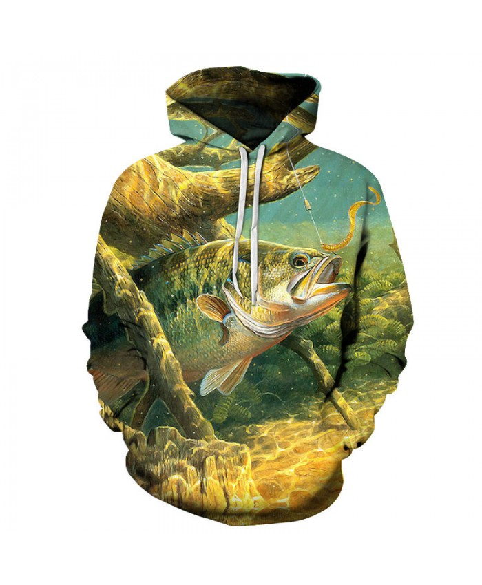 Anime Hoodies fish 3D print Hoodies Men Sweatshirts Male Pullover 2018 Hot Sale Tracksuits Brand Drop Ship