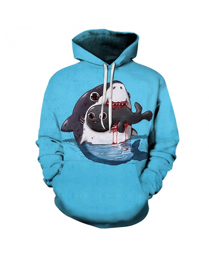 Anime Men Hoodies Casual Male Hoodie Fashion Hoody Sweatshirt Harajuku Streetwear Animal Long Sleeve