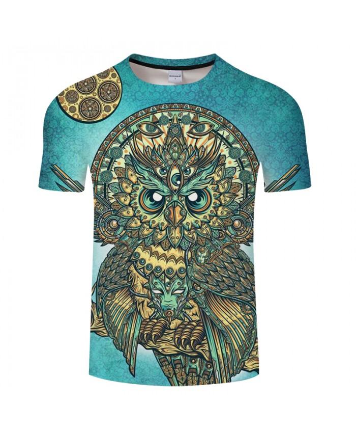 Anime Owl 3D Print t shirt Men Women tshirts Summer Cartoon Funny Short Sleeve O-neck Tops&Tees Hot 2018 Drop Ship