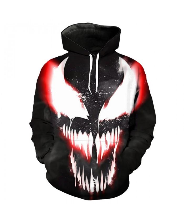 Anime Superhero Hoodie Sweatshirt Fashion Venom Pullover Hip hop streetwear