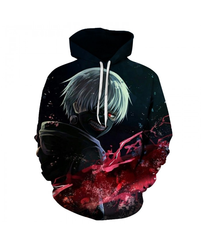 Anime Tokyo Ghoul 2019 3D Hoodies Men Hoody Sweatshirts Cool 3D Print Fashion Casual Pullovers Streetwear Tops Spring Autumn Hot