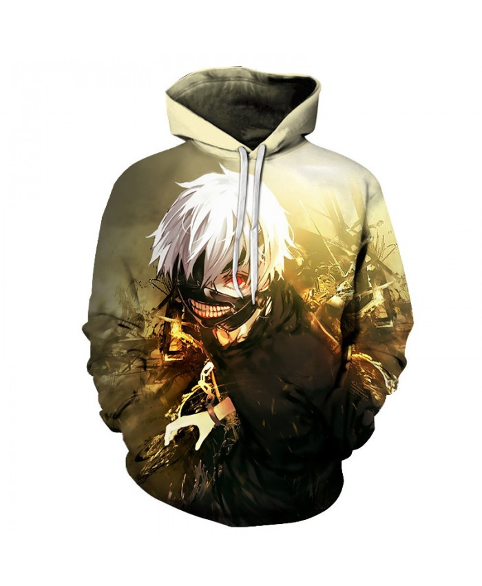 Anime Tokyo Ghoul 3D Harajuku Hoodies Sweatshirts Men Women Hip Hop Hooded Tracksuits Autumn Fashion Streetwear Casual Outwear