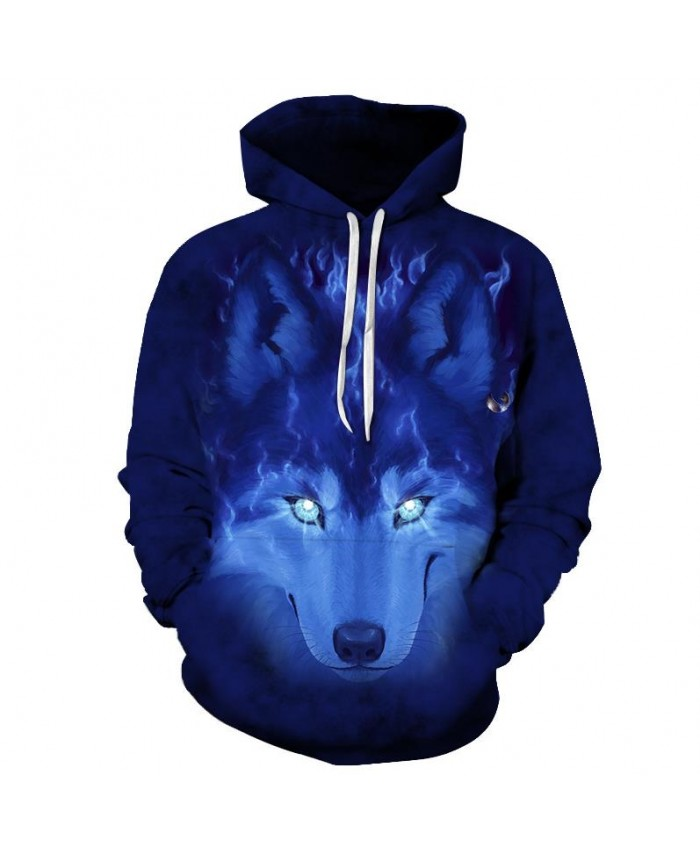 Anime Wolf Hoodies Men Sweatshirts Fashion Hoody Male Tracksuit 3D Printing Pullover Unisex Coat Brand 6xl Drop Ship