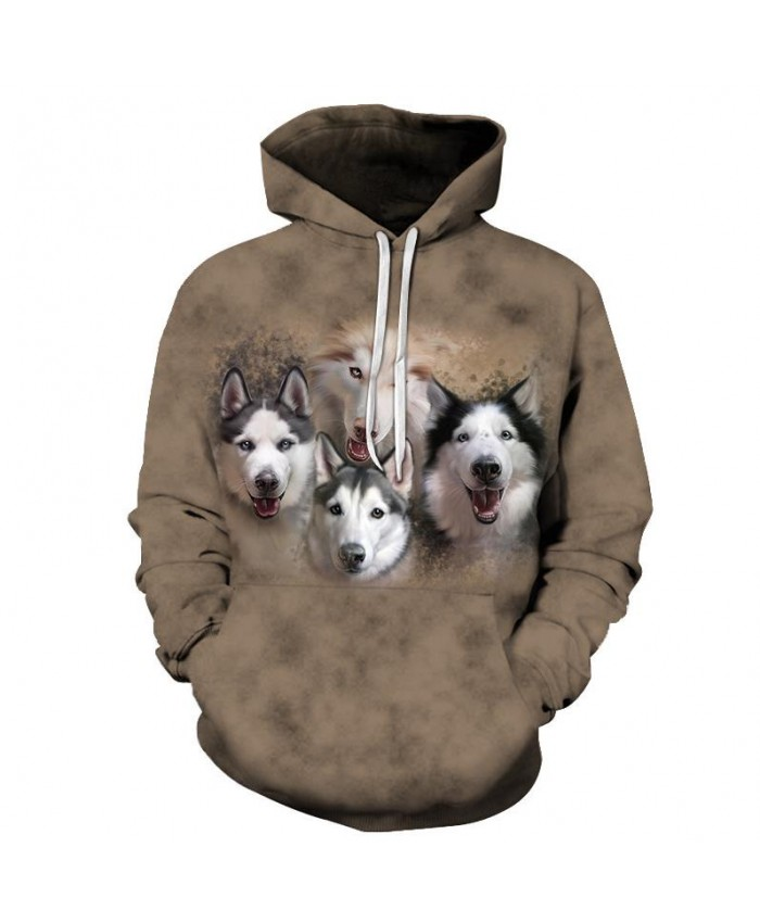 Anime Wolf Sweatshirts Men Hoodies Funny Tracksuit 3D Printing Pullover Autumn Hoody Streetwear Coat Brand Drop Ship