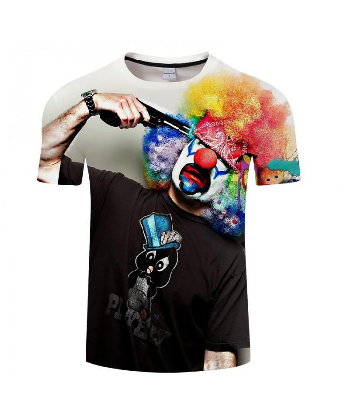 Anime clown 3D Print t shirt Men Women tshirts Summer Cartoon Short Sleeve O-neck Tops&Tees Hot New 2018 Drop Ship