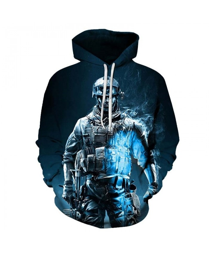 Armed Soldier Mens Streetwear Sweatshirt Mens Pullover Sweatshirt Sportsuit Casual Long Sleeve 2019 Tops sell Men