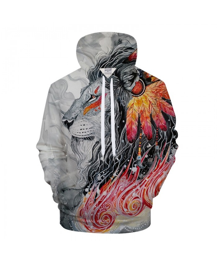 Art Lion 3D Printing Hoodies Hoody Men Lion Hoodies 3d Sweatshirts Pullover Streetwear Drop ship