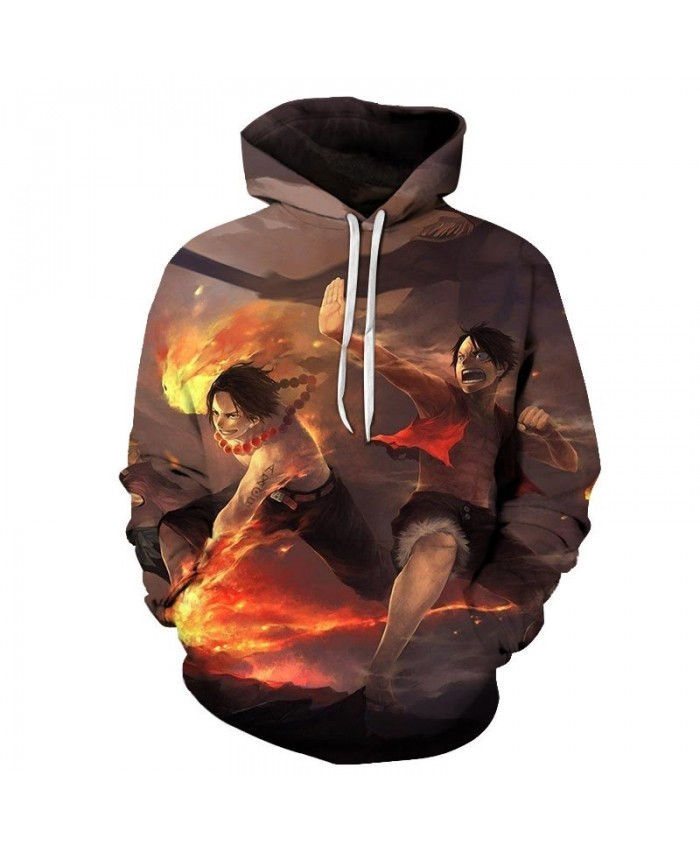 Attack With Fire 3D Printed Men One Piece Hoodies Mens Pullover Sweatshirt Fashion Men Hoodies Pullover Casual Men