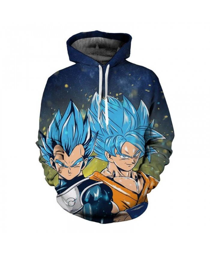 Autumn 5XL Dragon Ball Hoodie Sweatshirt Men Anime Super Saiyan Vegeta Hoodies 3D Galaxy Sweatshirts Pullovers Sweat Homme