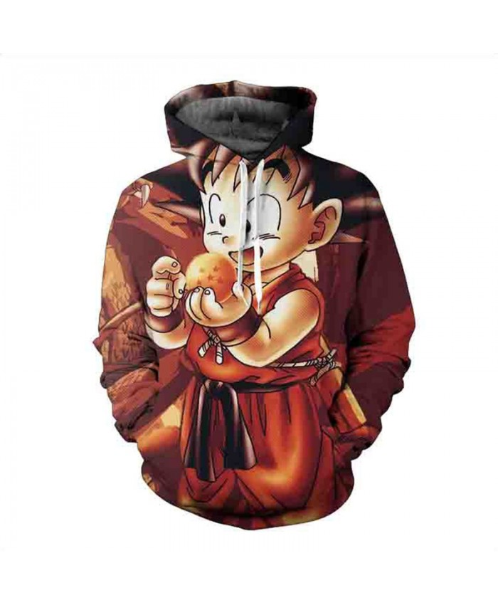 Autumn New 3D Sweatshirt Dragon Ball Hoodie Mens Cartoon Coat Kids Goku Gohan Printed Hoodies Hot Anime Teen Sweatshirts
