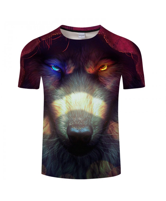 Autumn Wolf 3D Animal Print t shirt Men Women tshirt Summer Casual Short Sleeve O-neck Top&Tee Groot T-Shirt DropShip