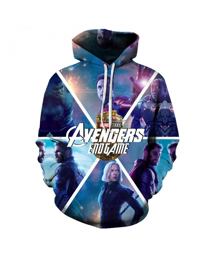 Avengers Endgame 3D Printed Men Pullover Sweatshirt Clothing for Men Custom Pullover Hoodie Fashion Casual Hoodies