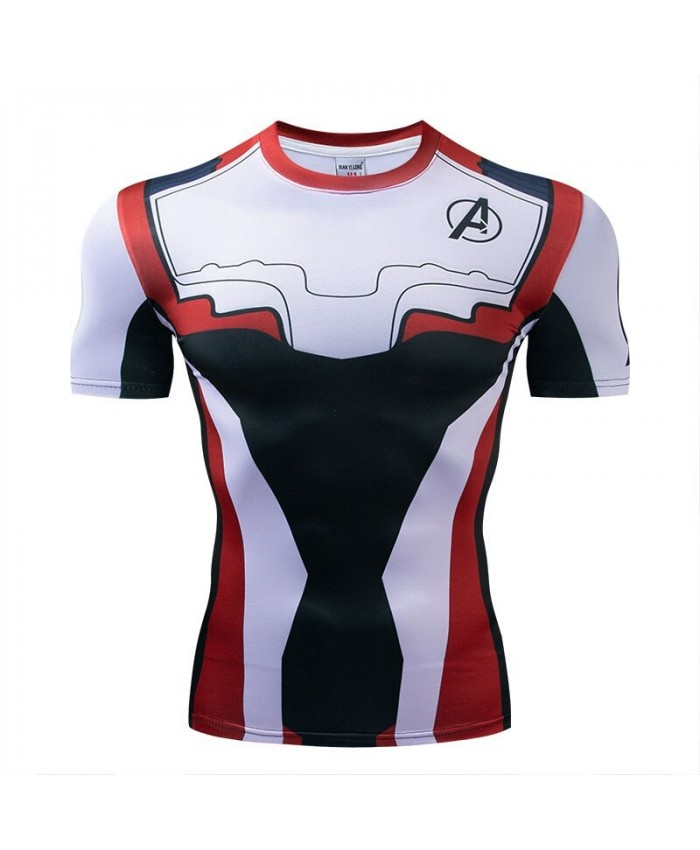 Avengers Endgame t shirt Men Tops Short Sleeve Tees Fitness Compression T-Shirt Mens Bodybuilding Camiseta Marvel
