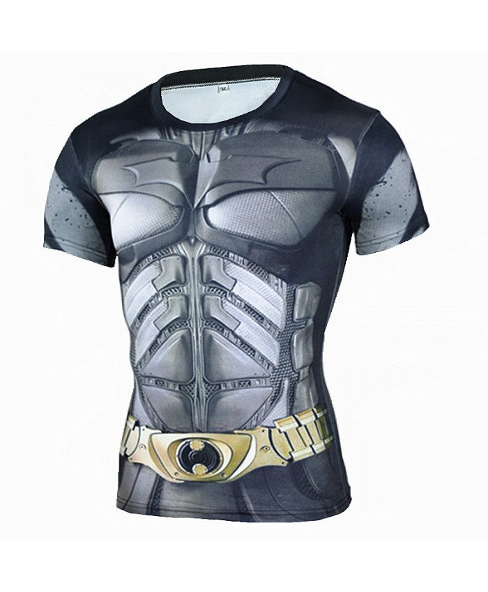 BATMAN Compression Shirt for Men T-shirts 3D Short Sleeve Tees