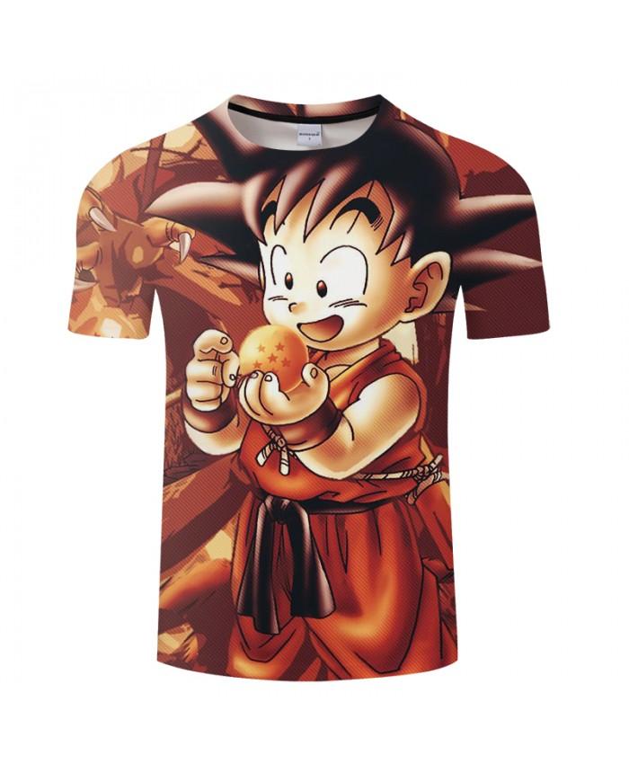 Baby Cartoon 3D Print T shirt Men Women Summer Tops&Tee Dragon Ball Tshirts Saiyan Short Sleeve Coffee Drop Ship