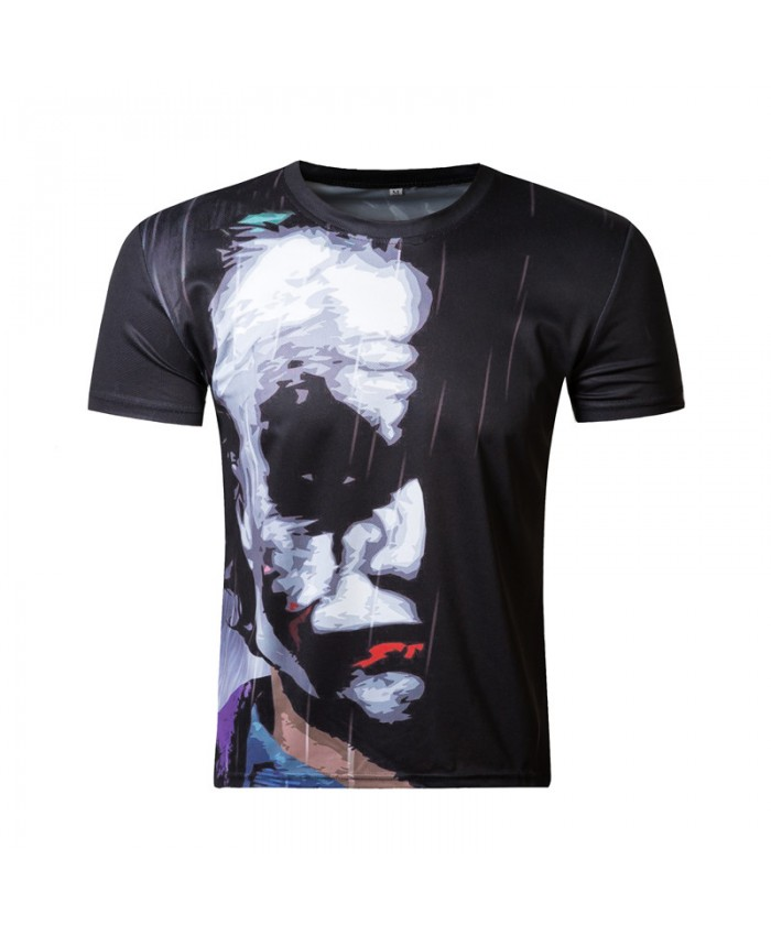 Batman Joker 3d t shirt funny face character joker Brand clothing 3d t-shirt summer style tees Badass top print