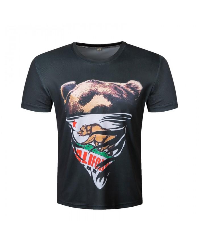 Bear 3D T-shirt Men Printed T shirt 2019 Animal Fashion Casual Top Summer Short Sleeve Plus Size Brand Clothing Male
