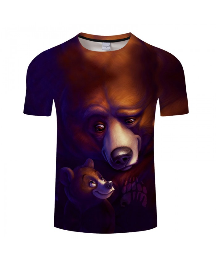 Bear 3D T shirt Men t-shirt Streatwear tshirt Summer Tees Groot Tops Funny Camiseta ShortSleeve Full of love DropShip