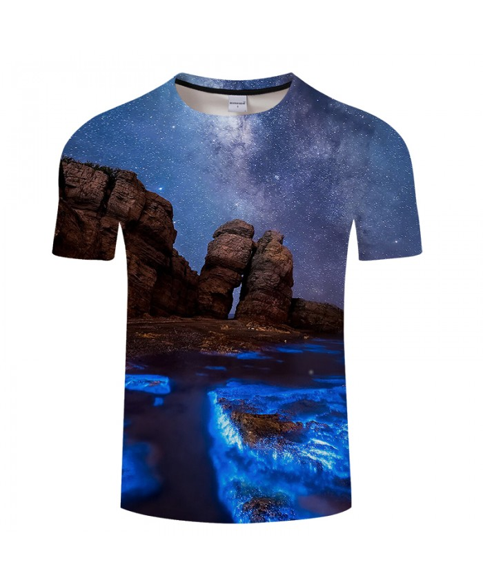 Beautiful Natural Scenery 3D Print t shirt for Men and Women Casual short Sleeve Tees Plus Size Drop Ship