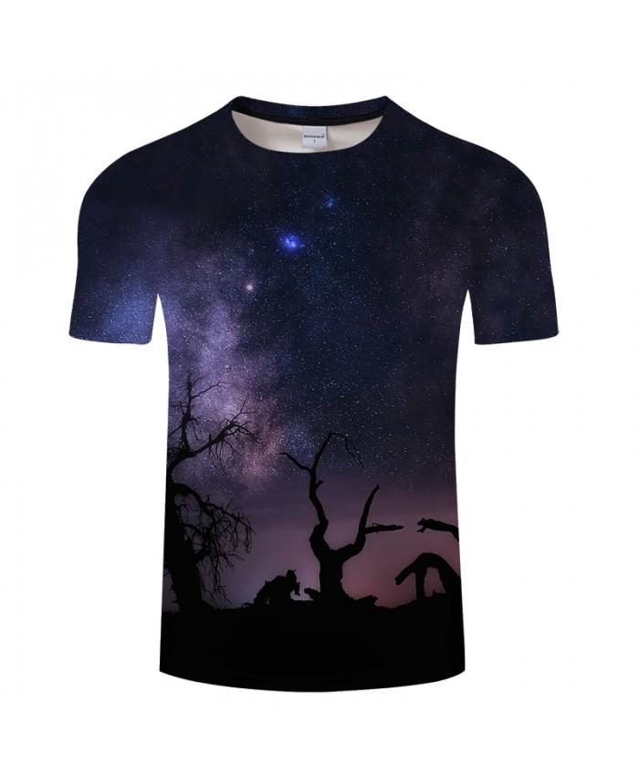Beautiful Night Scenery 3D Printed Short Sleeve T-shirts Casual Men and Women t shirt O-neck Tops Tees Drop Ship