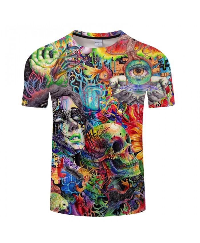 Beauty&Skull 3D Print t shirts Men Women tshirts Summer Funny Short Sleeve O-neck Tops&Tees Streetwear Drop Ship