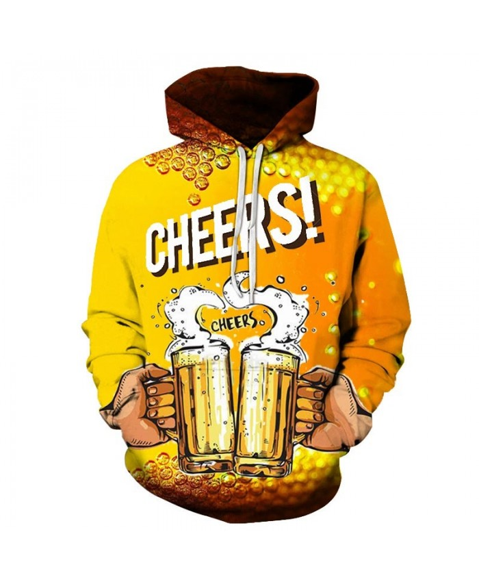 Beer Bubble 3D Print Men Pullover Sweatshirt Pullover Hoodie Casual Hoodies Fashion Men Hoodie Streetwear Sweatshirt