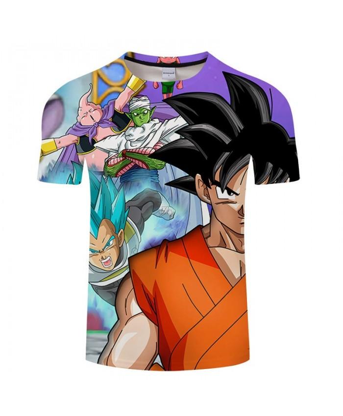 Bick Appears Cartoon Goku Dragon Ball 3D Print Men tshirt Anime Summer Casual Short Sleeve Male O-neck Drop Ship