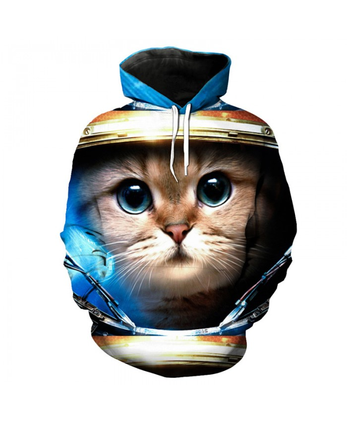Big Eyes Cute Cat Print Casual Hooded Sweatshirt Cute Pullover Trucksuits Casual Hoodie Autumn Tracksuit Pullover Hooded Sweatshirt