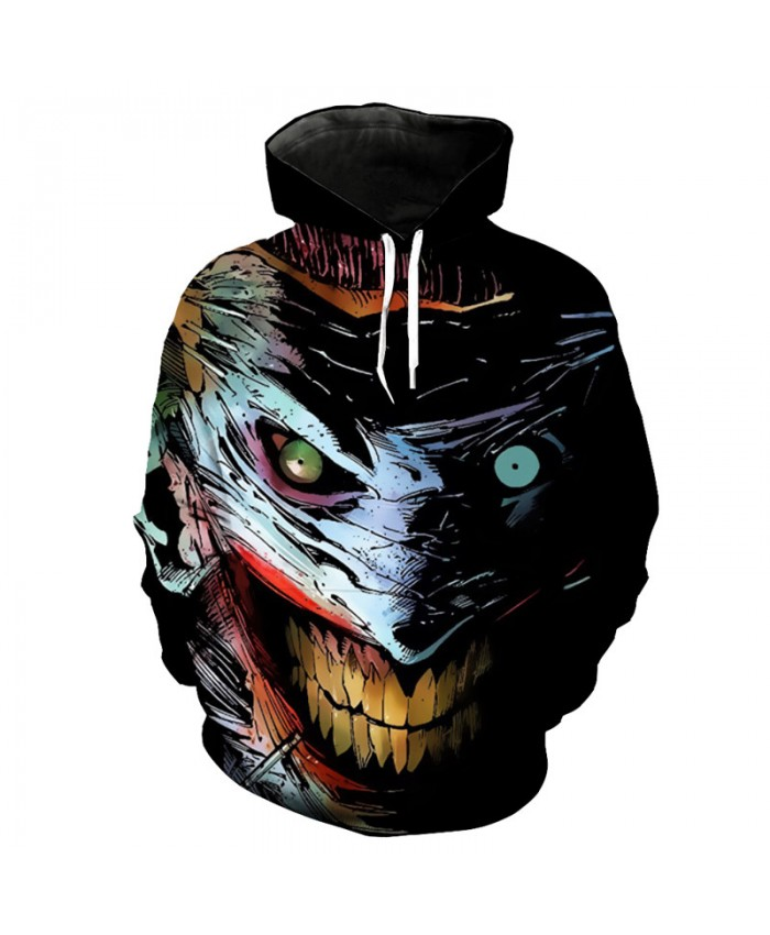 Big Mouth Smile Clown Print Fashion Neutral Hooded Sweatshirt Hip Hop Street Sportwear