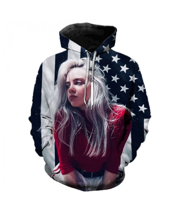 Billie Eilish 3D Hoodies Men Women Hoodies Billie Eilish Casual Hoodies Sweatshirts Fashion Clothes 3D Print Color Fashion Tops
